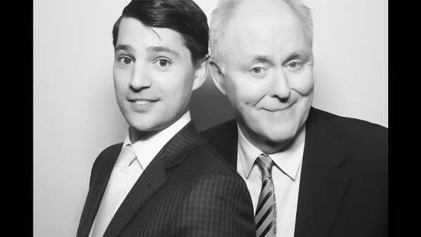 Nicholas D'Agosto with John Lithgow for Trial and Error2